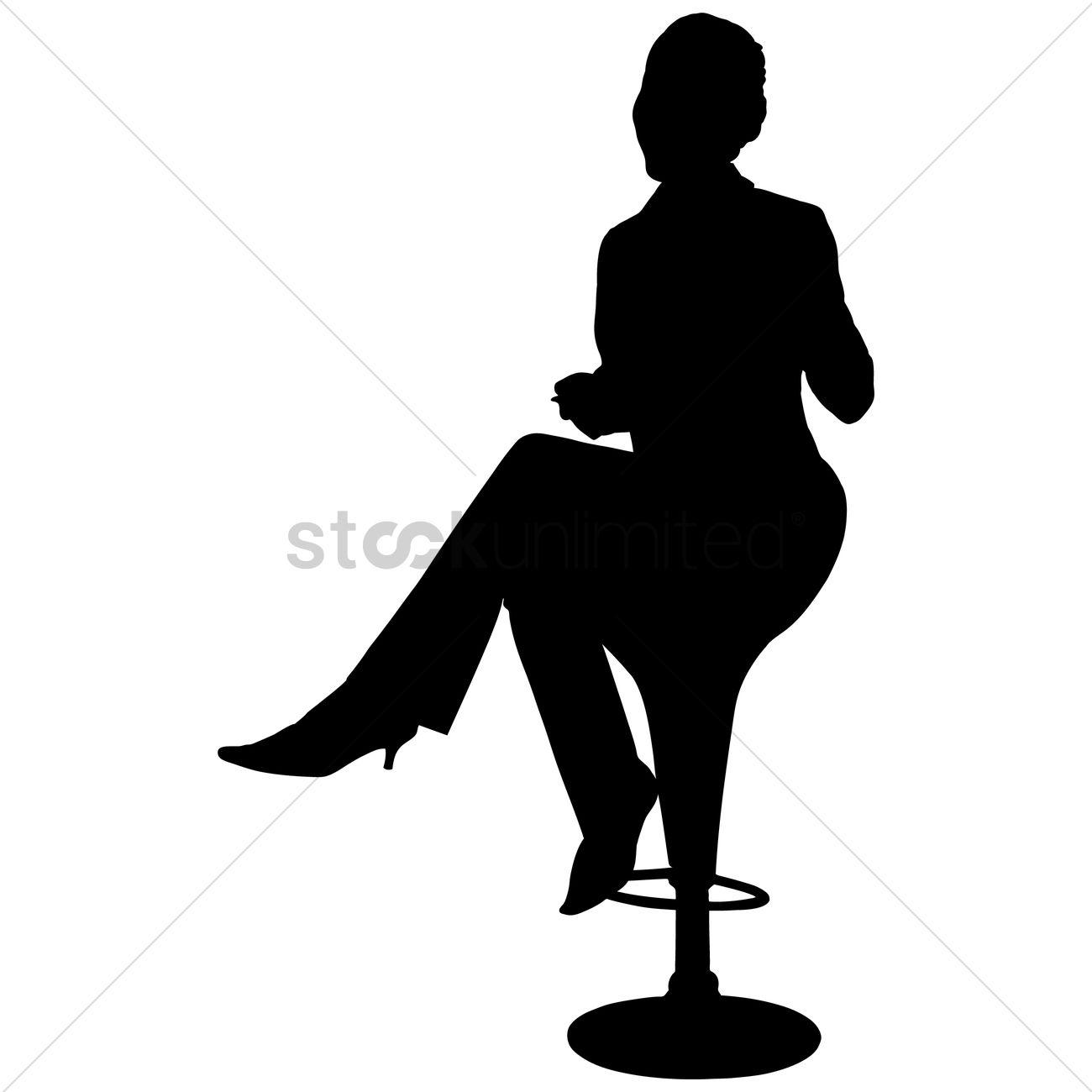 1300x1300 Business Women Sitting Vector Image