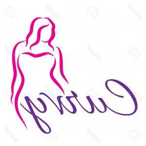 300x300 Photostock Vector Plus Size Woman Curvy Woman Symbol Vector