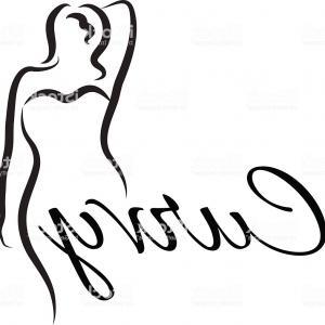 300x300 Plus Size Woman Curvy Woman Symbol Logo Vector Illustration Gm