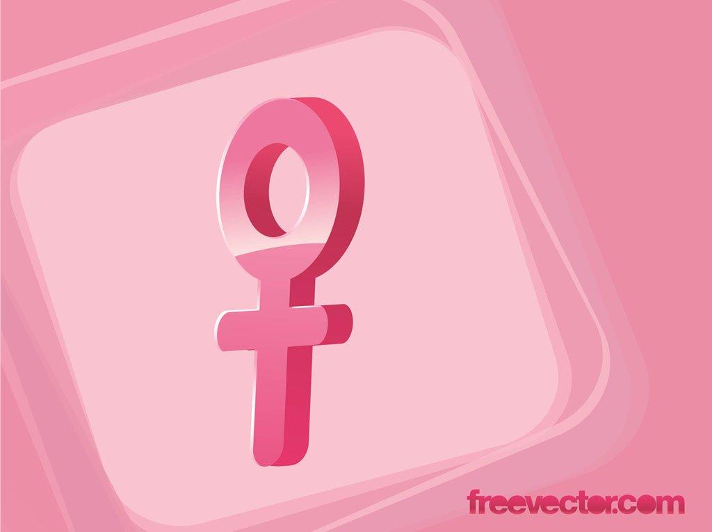 1024x765 Female Gender Symbol Vector Vector Art Amp Graphics