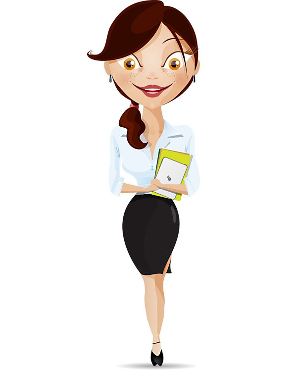 594x747 Vector Woman Business Character