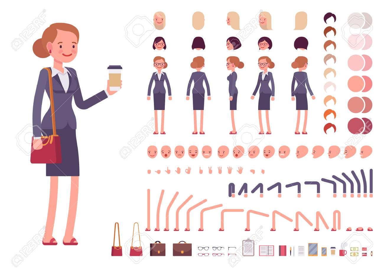 1300x909 Diy Vector Kits To Create Your Own Character In Adobe Illustrator