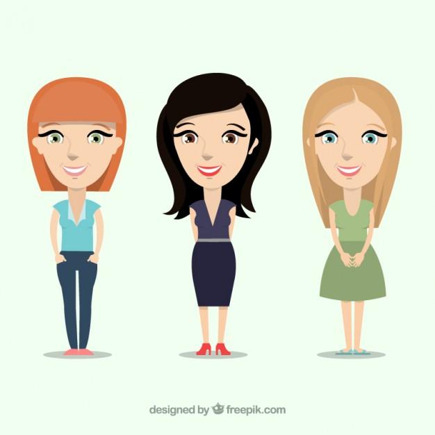 626x626 Women Illustration Vector Free Download