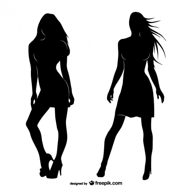626x626 Women Silhouettes Vector Free Download