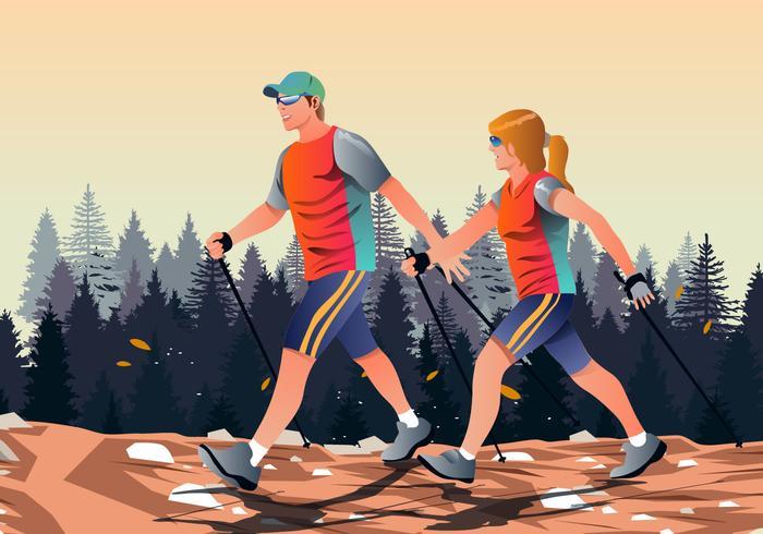 700x490 Man And Woman Walking Vector