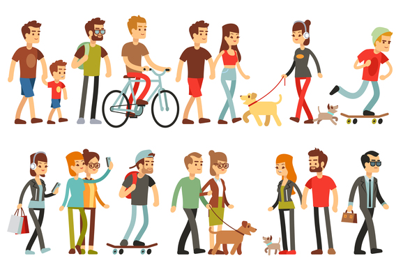 578x400 Page 1 Walking On Curated Vector Illustrations, Stock Royalty Free