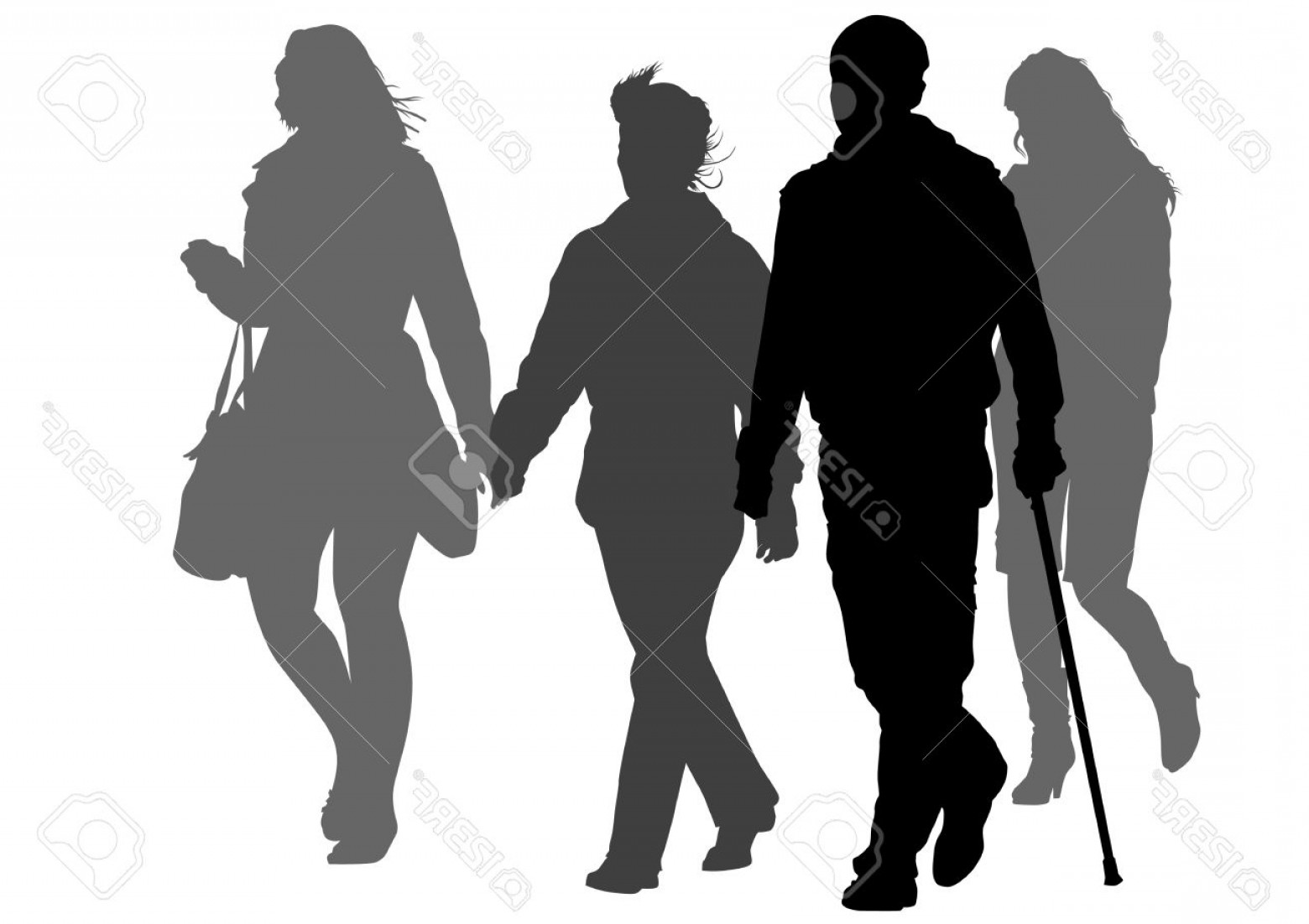 1560x1102 Person Walking Vector Graphics Lazttweet