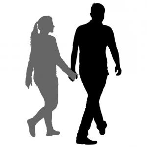 300x300 Silhouette Of A Girl And A Young Man Walking Vector Arenawp