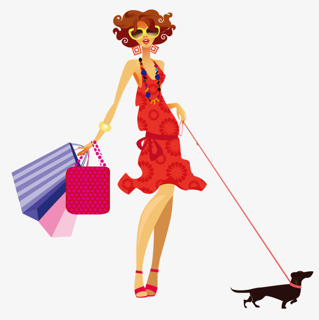 650x651 The Woman Walking The Dog, Woman Clipart, Walking Clipart, Dog