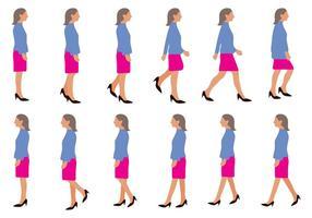 286x200 Woman Walking Free Vector Art