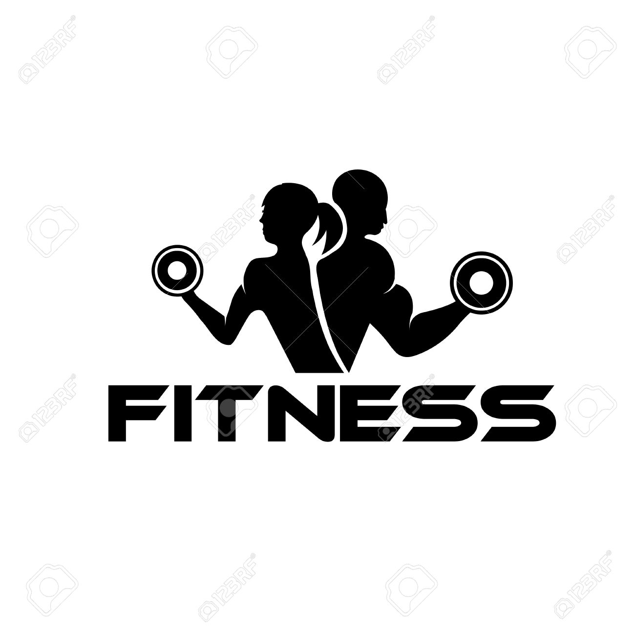 1300x1300 Free Clipart Fitness Black And White Woman