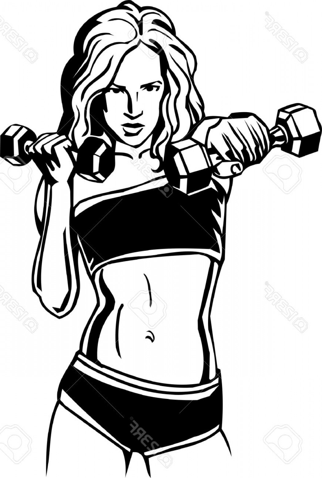 1051x1560 Photowomen S Fitness Vector Illustration Lazttweet