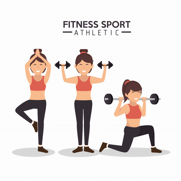 626x626 Women Fitness Sport Athletics Design Vector Premium Download
