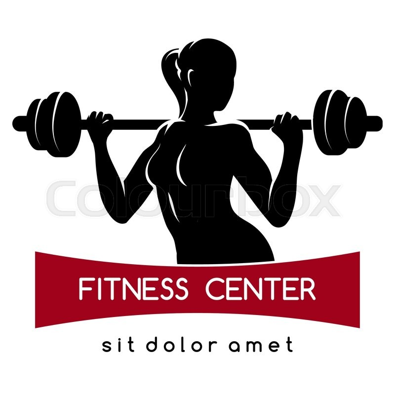 800x800 Fitness Center Or Gym Emblem. Elegant Woman Silhouette With