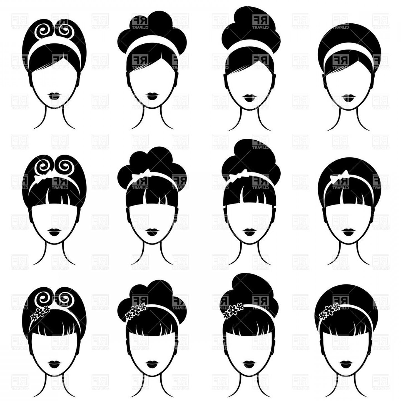 1440x1440 Retro Womens Hairstyle Vector Clipart Geekchicpro
