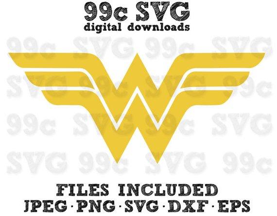 570x445 Dc Wonder Woman Logo Svg Dxf Png Vector Cut File Cricut Design Etsy