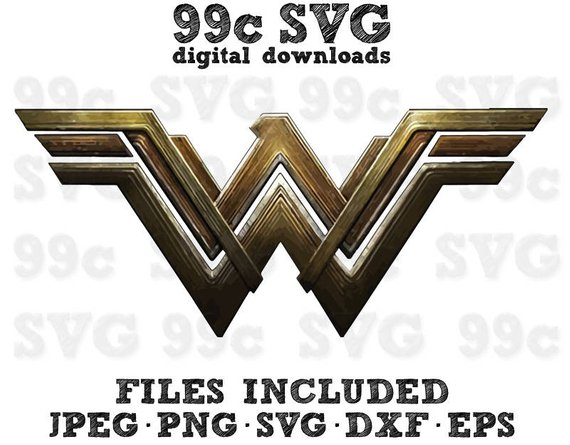 570x445 Dc Wonder Woman Movie Logo Svg Dxf Png Vector Cut File Cricut Etsy