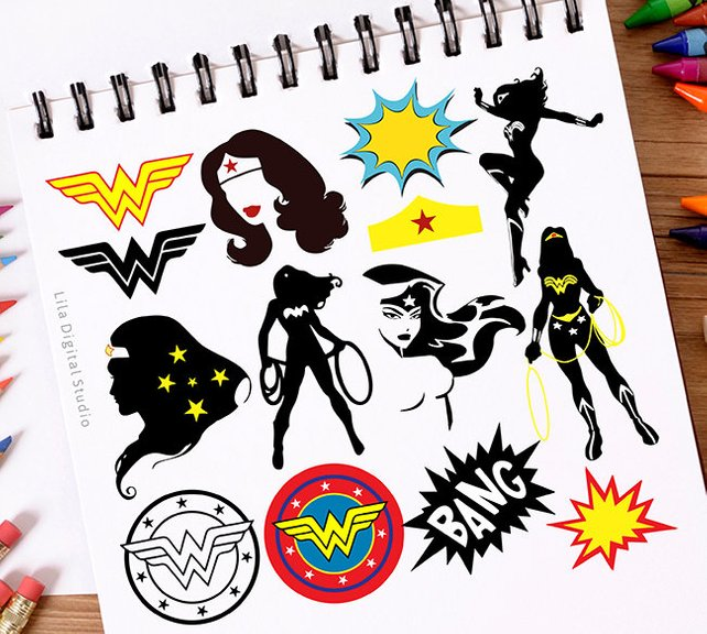 642x576 Wonder Woman Svg Wonder Woman Clipart Wonder Woman Vector Etsy