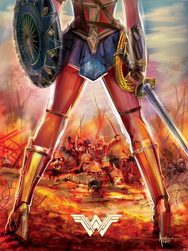 645x864 Feel The Power Of Wonder Woman In This Killer Vector Art Print