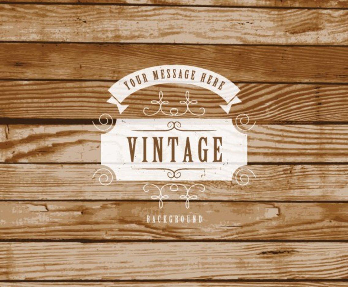 1136x936 Vintage Label On Wooden Background Vector