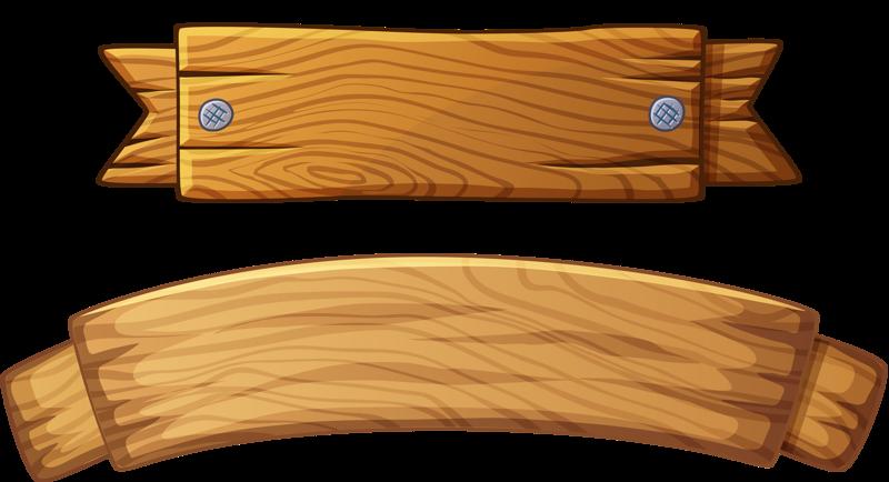 Wood Banner Vector
