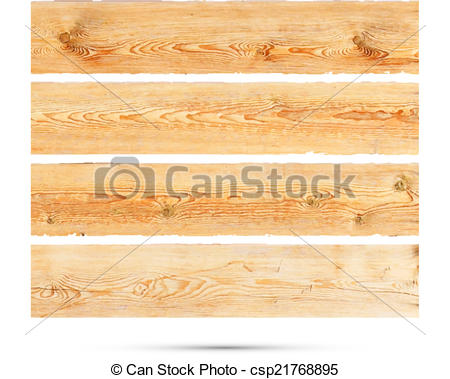 450x379 Wooden Banner Isolated. Vector. Wooden Banner Isolated On White