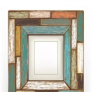 300x300 Retro Vintage Wooden Frame Vector Rongholland