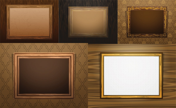 600x369 Antique Wood Frame Vector Free Download
