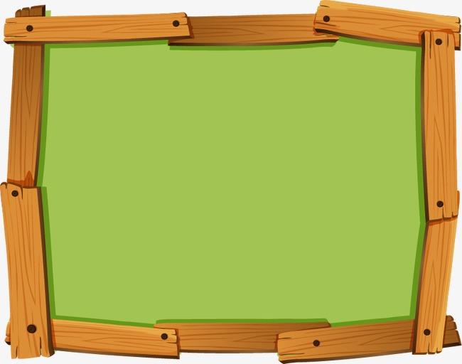 650x512 Vector Cartoon Wooden Frame, Vector, Cartoon, Wooden Png And