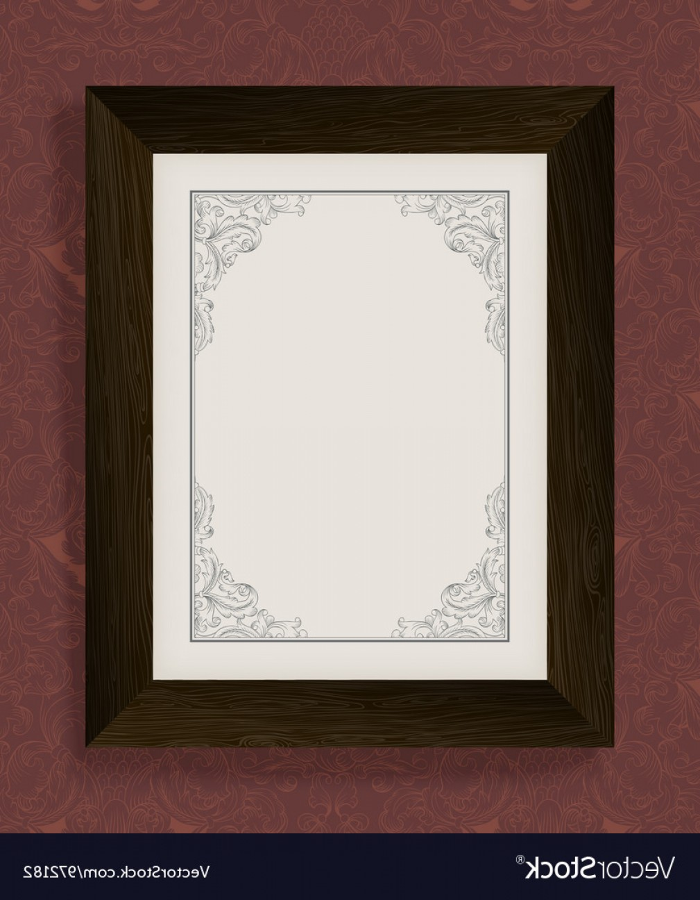 1009x1296 Vintage Frame With Wooden Frame Vector Orangiausa