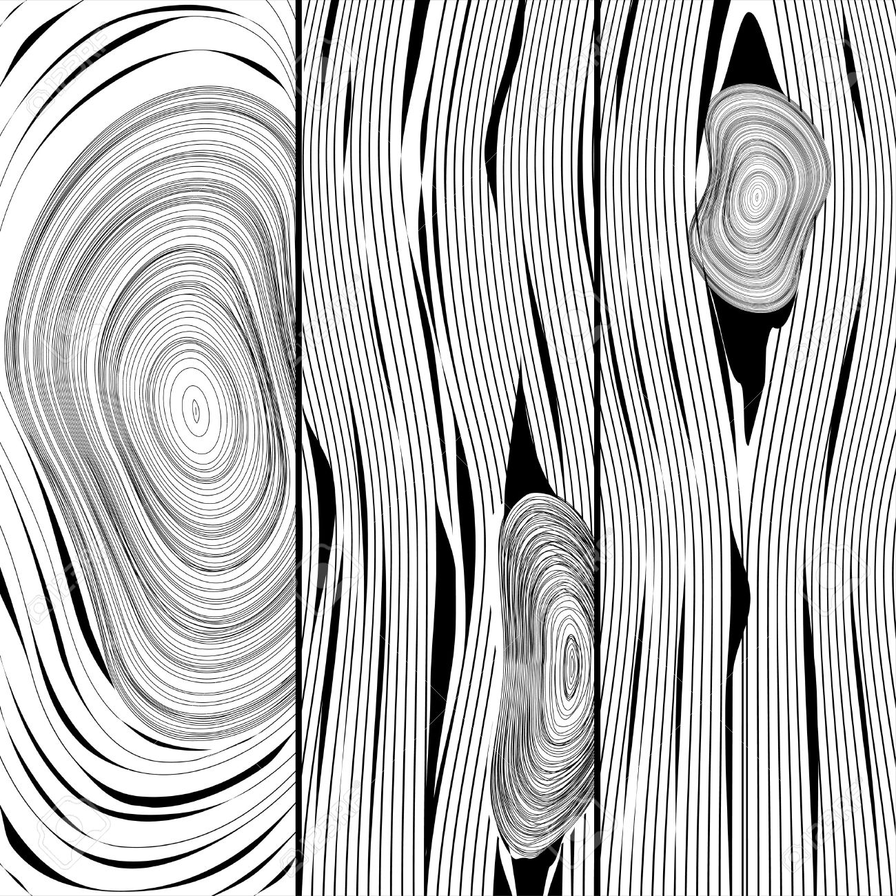 1300x1300 Black White Wood Grain Clipart