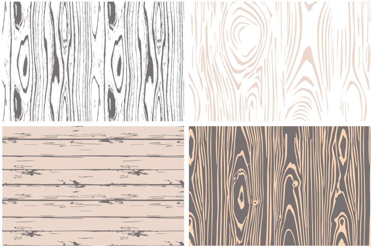 1184x788 Seamless Wood Grain Vector Patterns
