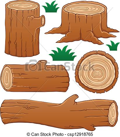 412x470 Wood Log Clipart Log Theme Collection 1 Vector Illustration Clip
