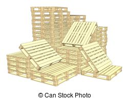 254x194 Wooden Pallets Isolated Vector. Wooden Pallet Isolated Vector