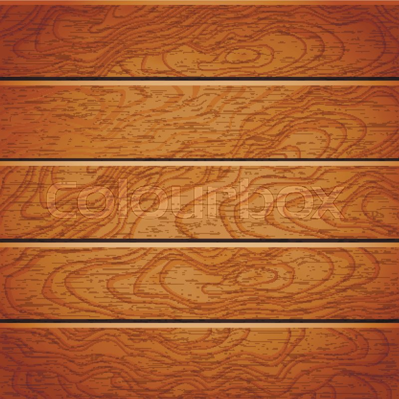800x800 Cartoon Square Vector Background With Wooden Boards. Backdrop Of