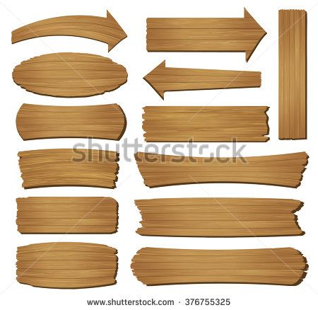 450x438 Old Wood Plank Isolated On White Background, Vector Illustration