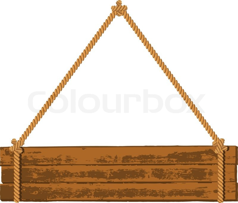 800x682 Hanging Wood Sign Vector Wooden Signboard On The Rope Stock Vector