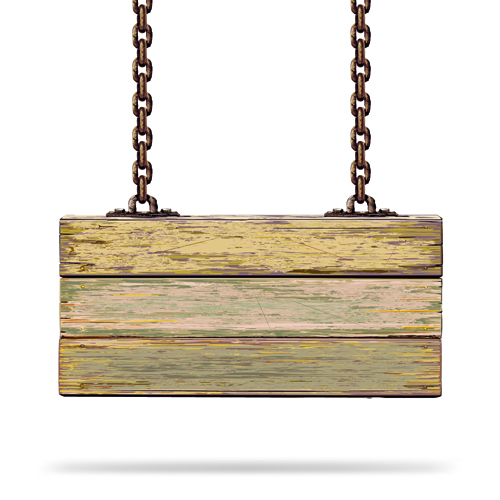 500x500 Vector Wooden Signs Design Elements 07 Vector Label Free Hanging