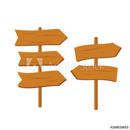 500x500 Cartoon Wooden Plank Signs. Wooden Sign Vector. Retro Western