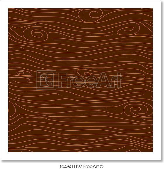 561x581 Free Art Print Of Dark Brown Tree Texture Vector Seamless Pattern