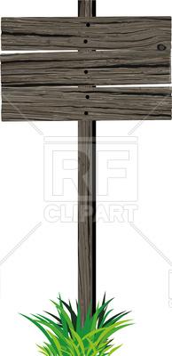 194x400 Old Blank Horizontal Empty Wooden Sign Vector Image Vector