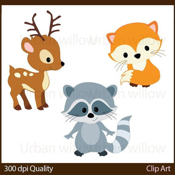 570x570 Woodland Animals Cli Art, Animal Vectors, Cute Deer, Clip Art