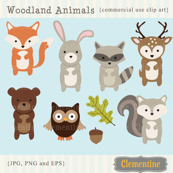 600x600 Woodland Clipart Clip Art Cute Borders, Vectors, Animated, Black