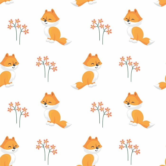 700x700 Baby Colorful Seamless Pattern With The Image Of A Cute Woodland