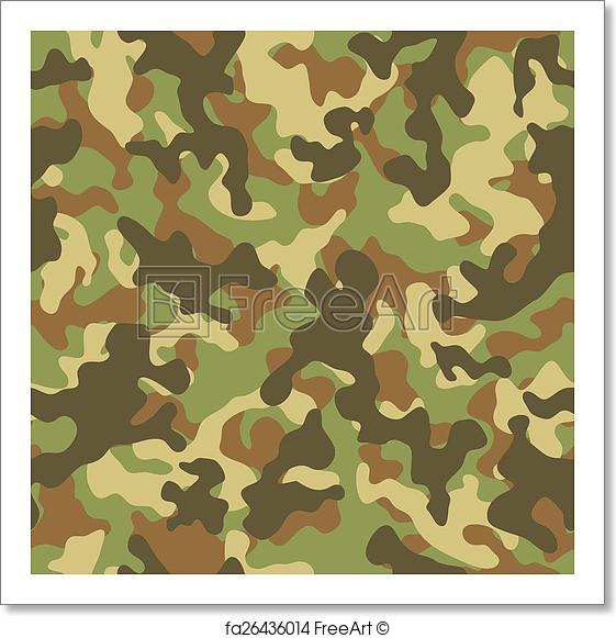 561x581 Free Art Print Of Woodland Camouflage Seamless Pattern. Vector
