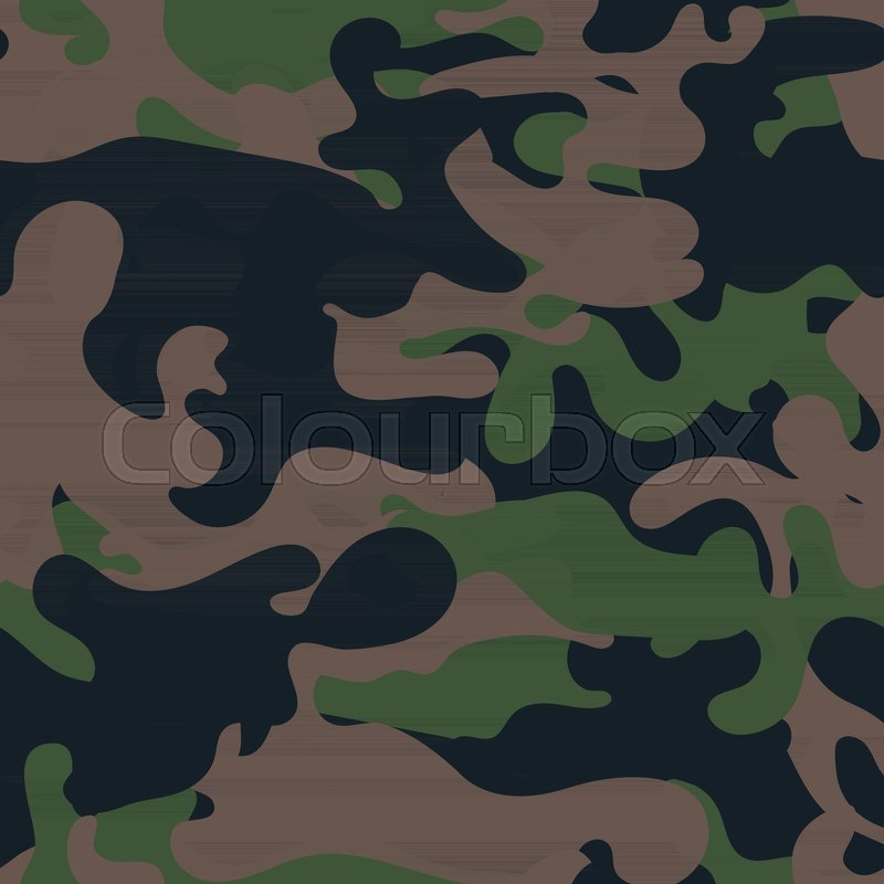 800x800 Seamless Camouflage Pattern. Military Fabric Texture. Khaki Army