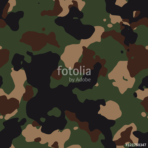 500x500 Seamless Green And Brown Classic Fashion Woodland Camo Pattern