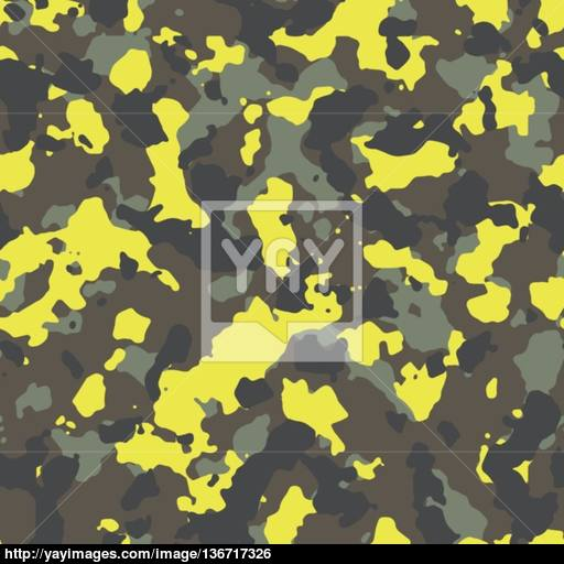 512x512 Seamless Trendy Yellow Spots Woodland Camouflage Pattern Vector