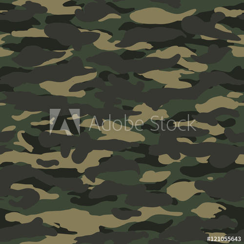 500x500 Seamless Wide Fashion Woodland Camo Pattern Vector