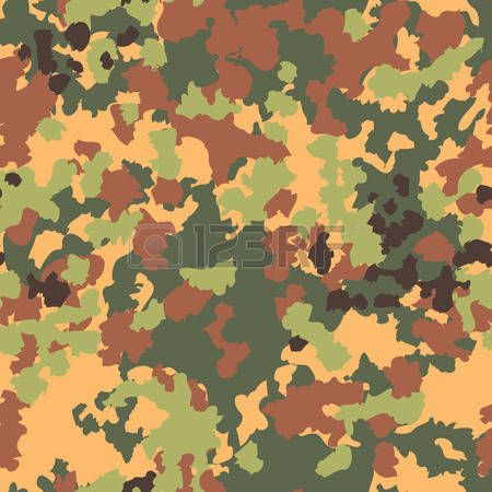 450x450 Camouflage Seamless Pattern Woodland Style Vector Illustration